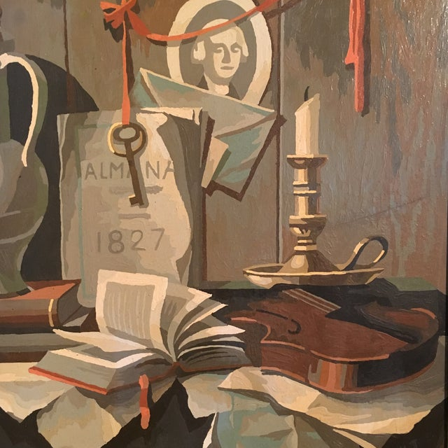 1968 Still Life Paint by Number Framed Painting - Image 4 of 6