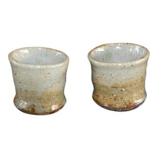 Vintage Studio Pottery Ceramic Stoneware Saki Cups For Sale
