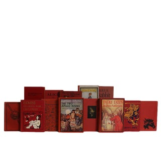 Vintage Ruby Children's Tales Book Set, S/20 For Sale