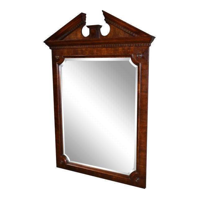 Vintage Traditional Style Large Sized Mahogany Wall Mirror For Sale