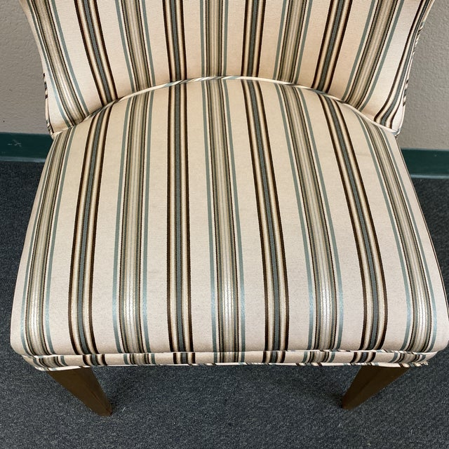 Late 20th Century Custom Design Side Chairs - a Pair For Sale - Image 10 of 12