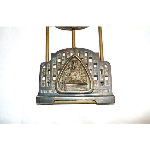 Art Nouveau Judd Art Nouveau Wise Owl Book Rack 1920s For Sale - Image 3 of 11