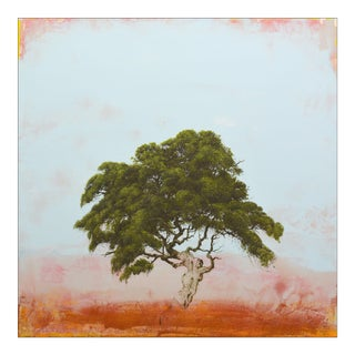 """Robert Marchessault """"Hopiland"""" Contemporary Abstract Tree Mixed Media Painting For Sale"""