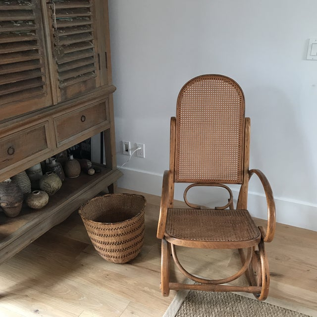 Boho Chic Spanish Bentwood Rocking Chair Rocker For Sale - Image 3 of 10