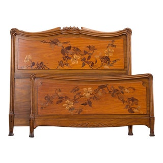 French Art Nouveau Double Bed