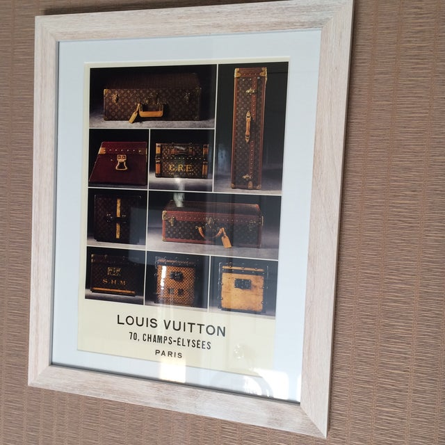 Louis Vuitton Framed Luggage Print from Paris - Image 3 of 7