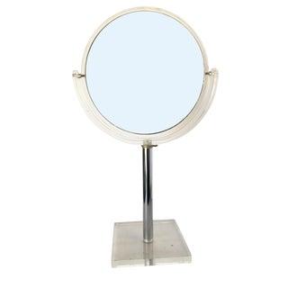 1970s Modern Acrylic Table Top Vanity Mirror by Hollis Jones For Sale