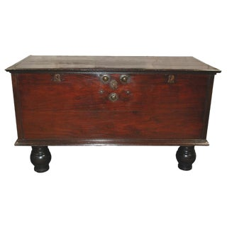 Mid 19th Century British Colonial Large Trunk For Sale