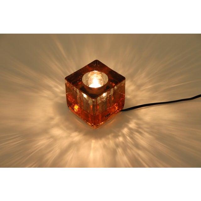 Mid-Century Modern Orange Mid-Century Modern Murano Glass Table Lamp For Sale - Image 3 of 13