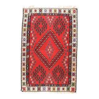 Vintage Turkish Tribal Kilim Rug For Sale