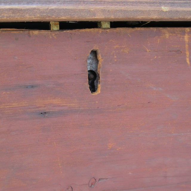 Original Red Painted Blanket Chest For Sale - Image 10 of 11