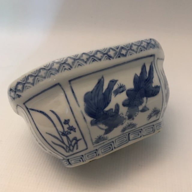 Chinese Blue & White Oval Porcelain Planter - Image 8 of 12