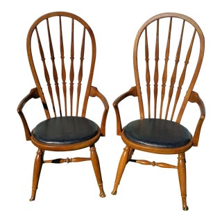 Mid-Century 1954 Thomasville Bentwood Windsor Dining Armchairs - A Pair For Sale