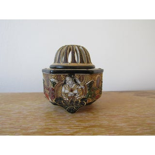 Early 20th Century Decorated Moriage Incense Burner Preview