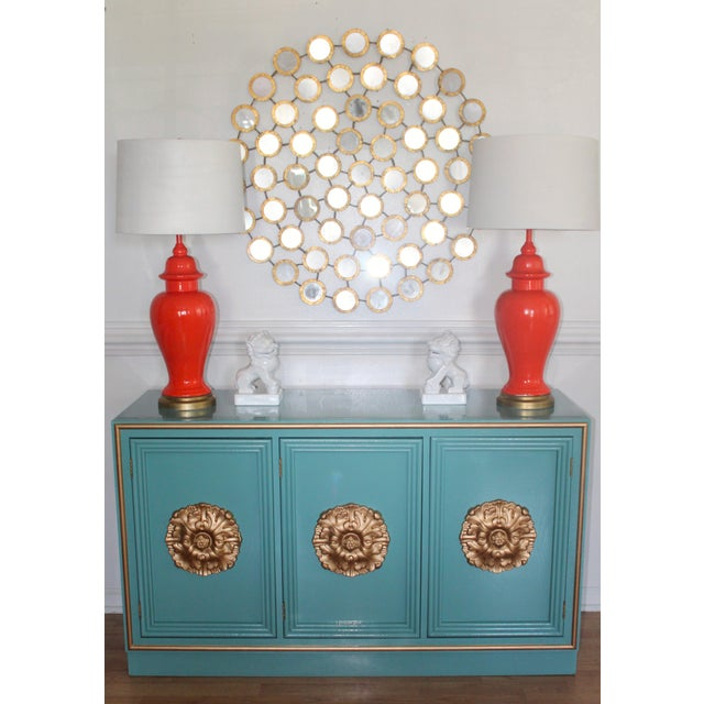 1970s Hollywood Regency Lacquered Credenza or Sideboard For Sale - Image 5 of 11