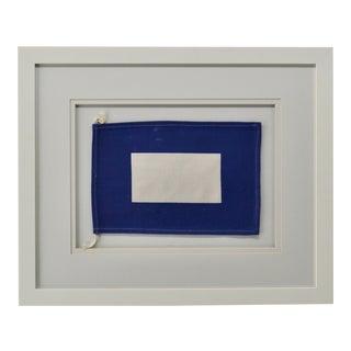 """P"" Signal Flag, Framed For Sale"