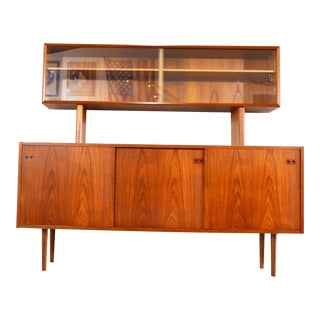 Danish Mid Century China Cabinet by Kofod Larsen For Sale