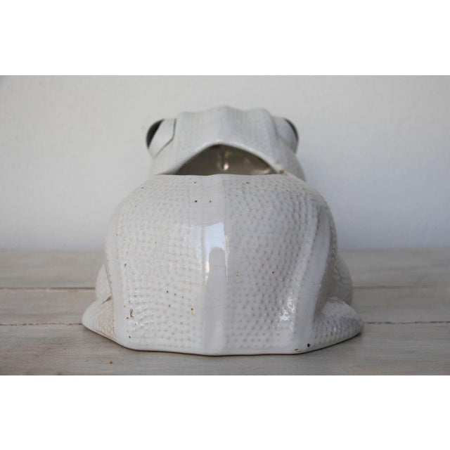 1970s Hobnail Frog Planter in the Style of Jean Roger For Sale - Image 4 of 13
