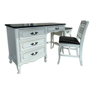 Vintage French Provincial Henry Link Desk and Chair - 2 Pieces For Sale