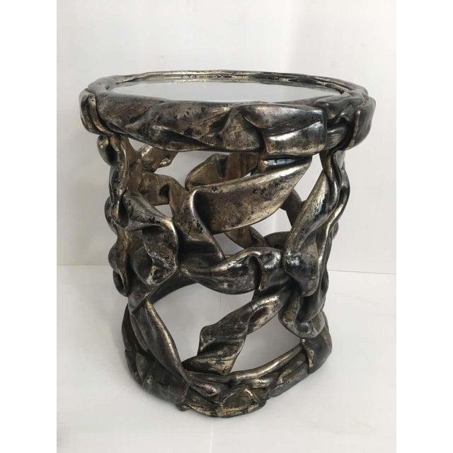 Mid-Century Modern Sculptural Hollywood Regency Ribbon Drinks Side Table, Tony Duquette Style For Sale - Image 3 of 7