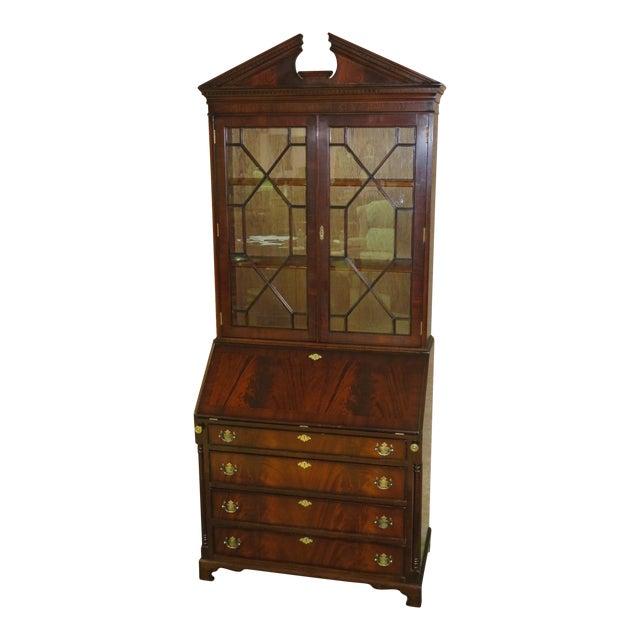 1980s Regency Style Secretary Desk For Sale
