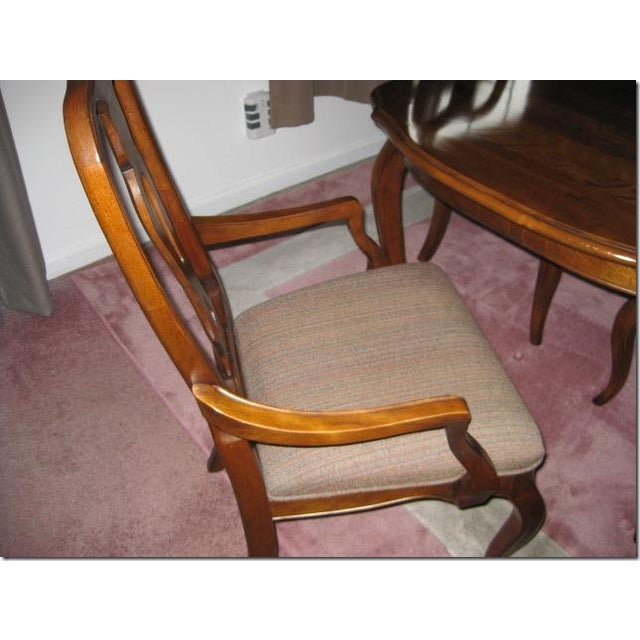 French Dining Room Table: Ethan Allen Country French Dining Room Table And Chairs