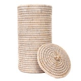 Image of Artifacts Rattan Double Toilet Roll Holder For Sale