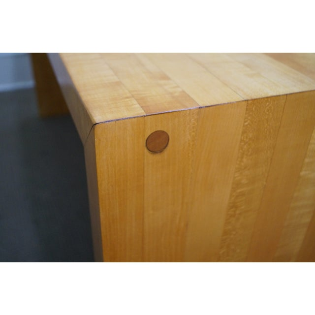 Brown Mid-Century Parsons Slab Desk For Sale - Image 8 of 10