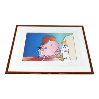 Peter Max Mid-Century Modern Framed Lithograph For Sale