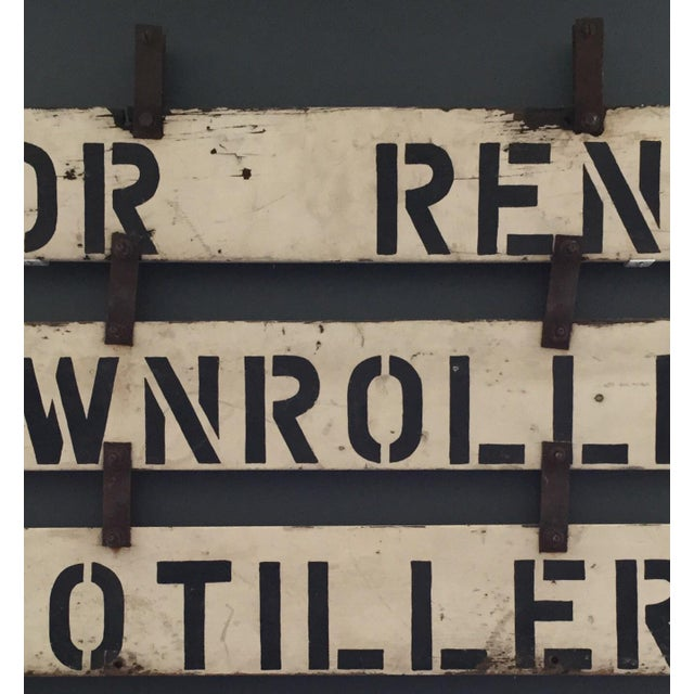 Vintage 'For Rent' Farm Sign - Image 4 of 4