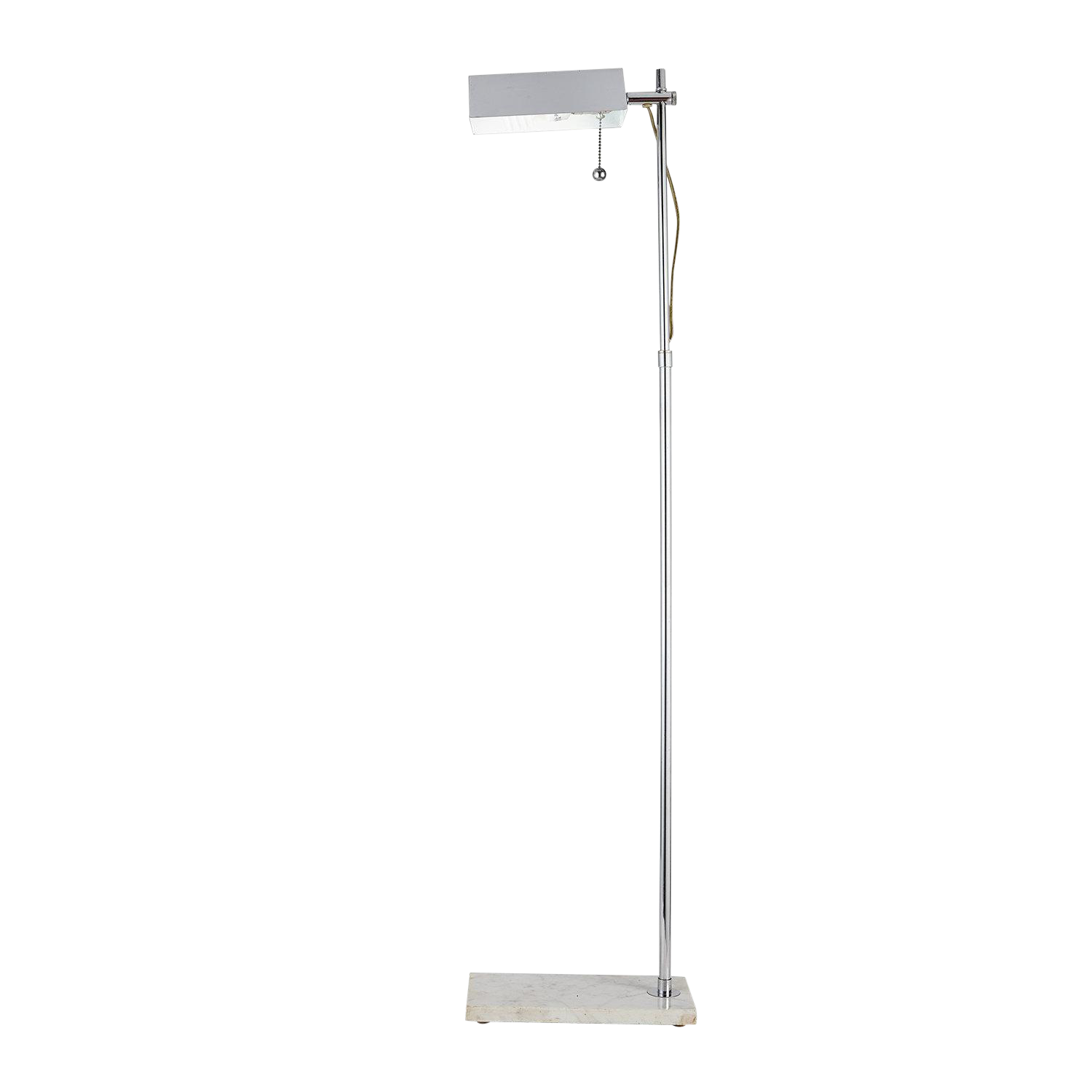 Adjustable Reading Floor Lamp with Marble Base
