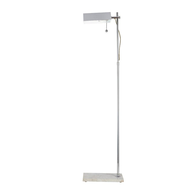 Adjustable Reading Floor Lamp With Marble Base For Sale