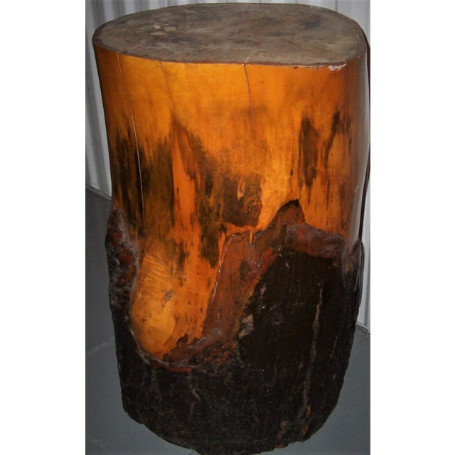 Contemporary Solid Maple Wood Pedestal Stand For Sale - Image 3 of 3