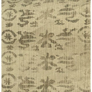 "Rose Tarlow for Melrose House ""Medici"" Neutral Hemp Fabric by the Yard, Vintage Unused For Sale"