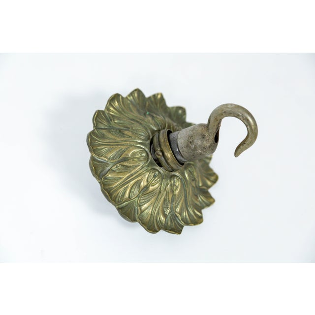 Rare Large Silver Gilt Bronze Rock Crystal Flower Bouquet 20-Light Chandelier For Sale - Image 12 of 13