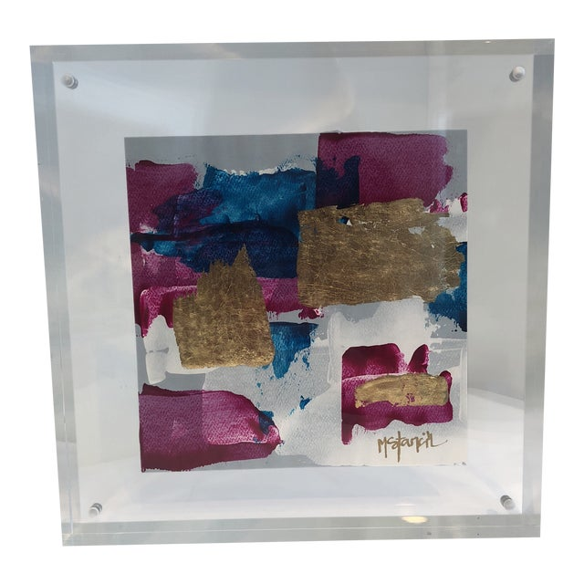 Original Art Floating in Lucite For Sale