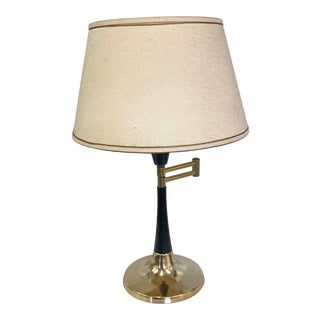 Mid-Century Modern Swing Arm Diffuser Table Lamp For Sale