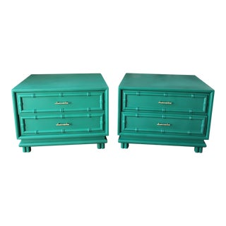 American of Martinsville Mid Century Side Tables - a Pair