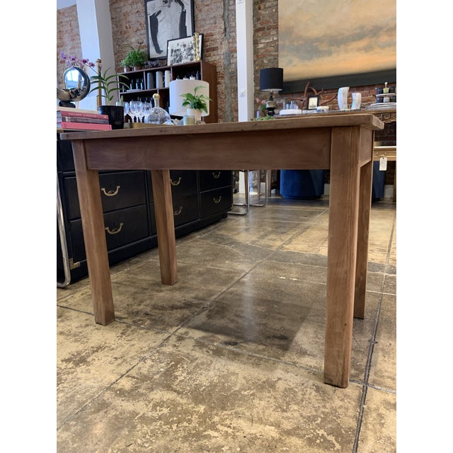 Brown Antique French Farm Table For Sale - Image 8 of 12