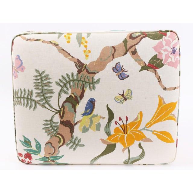 Mid-Century Modern Upholstered Carl Malmsten Stool For Sale - Image 3 of 6