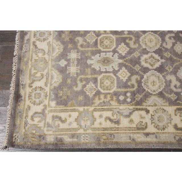 "Apadana - 21st Century Oushak Style Rug, 2'7"" x 19'9"" For Sale In New York - Image 6 of 8"