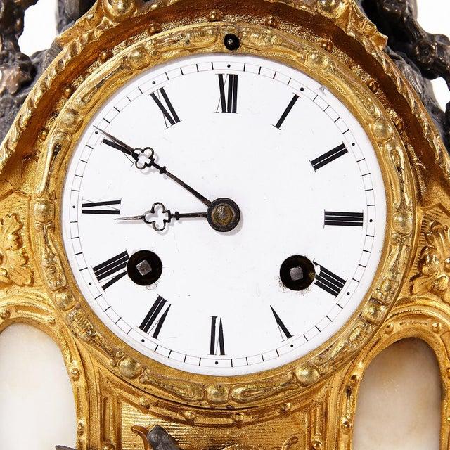 1900 - 1909 Rococo Bronze Mantel Clock, 1900's For Sale - Image 5 of 7