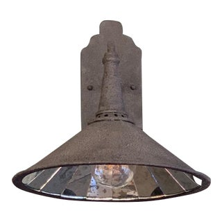 Currey & Co Manuscript Wall Sconce Showroom Sample For Sale