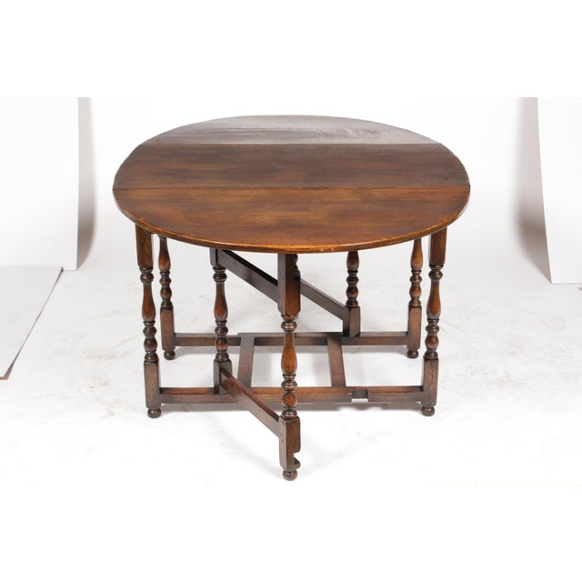 1920s English Jacobean Gateleg Table For Sale In Nashville - Image 6 of 11
