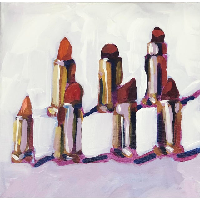 """""""Lipstick Lovers"""" Contemporary Painting For Sale - Image 4 of 4"""