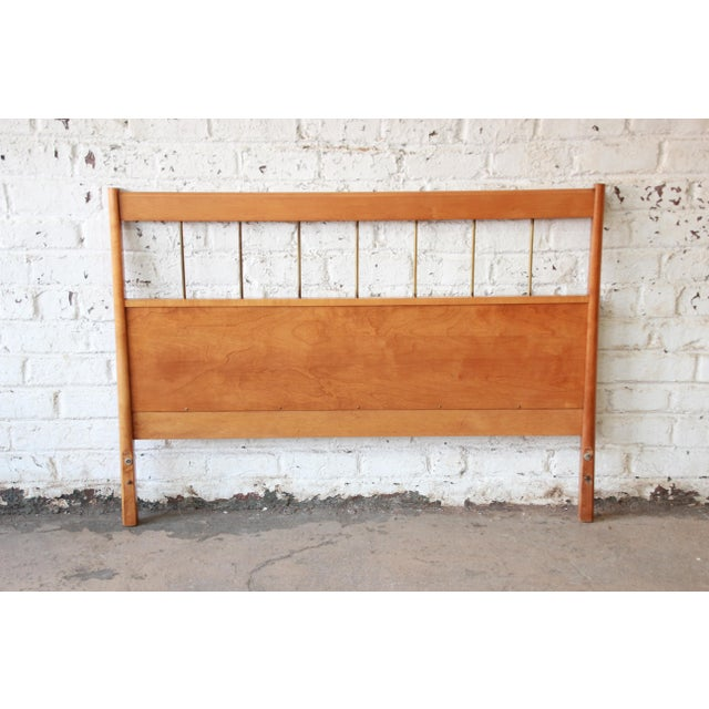 Metal Paul McCobb Planner Group Birch Full Size Headboard For Sale - Image 7 of 7