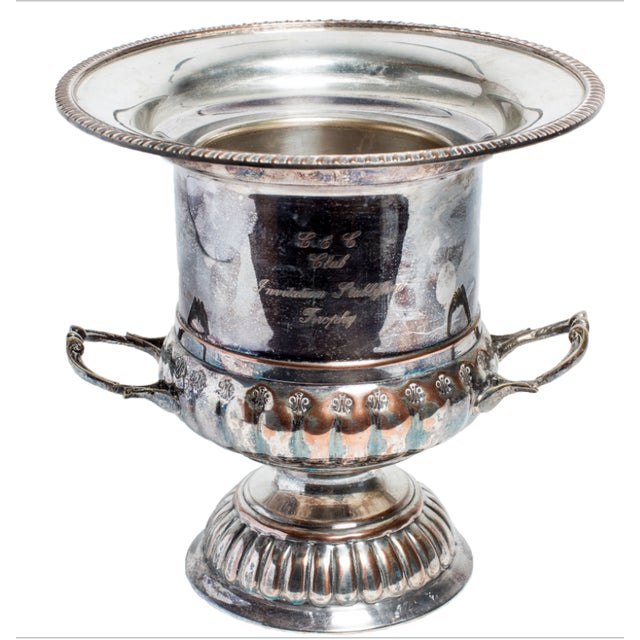 SILVER CHAMPAGNE BUCKET For Sale - Image 4 of 4