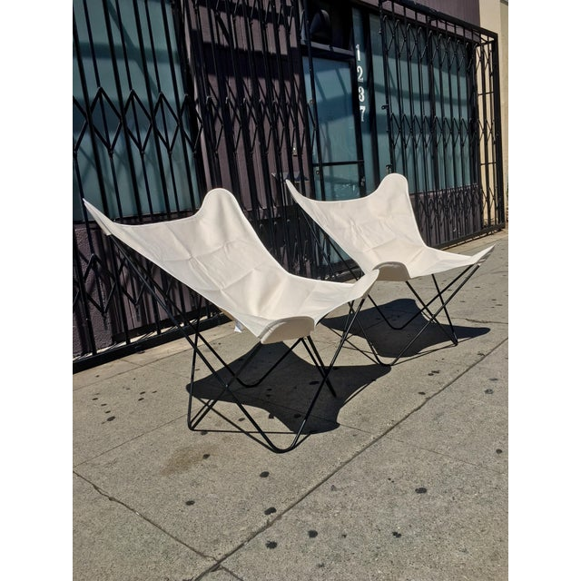 White Butterfly Chairs - A Pair - Image 3 of 6