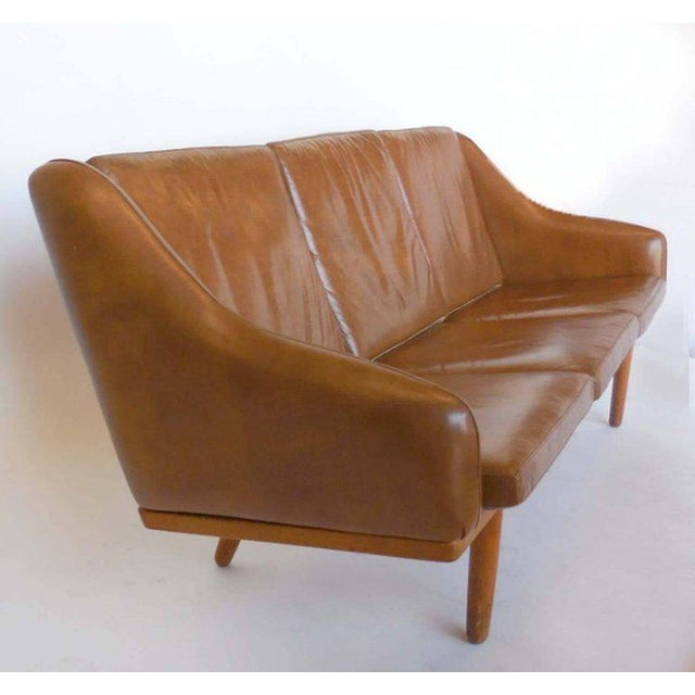 Brown Danish Leather Sofa by Poul Volther For Sale - Image 8 of 9