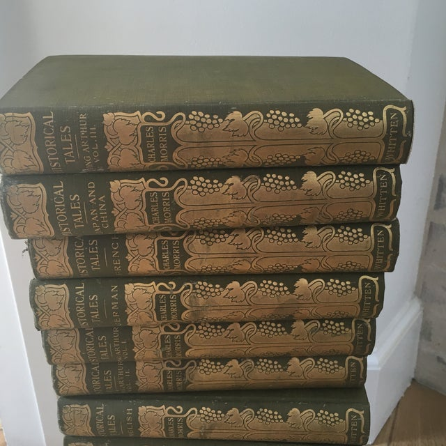 Antique 1904 Set of Green and Gold Books - 14 - Image 3 of 8
